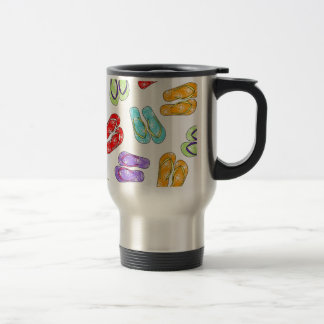 Cute Colorful Flip Flops Travel Mug