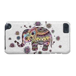 Cute Colorful Floral Baby Elephant Illustration iPod Touch 5G Cases