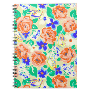 Cute colorful floral pattern notebook