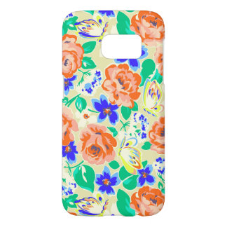 Cute colorful floral pattern samsung galaxy s7 case