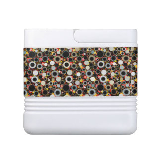 Cute colorful floral suns pattern