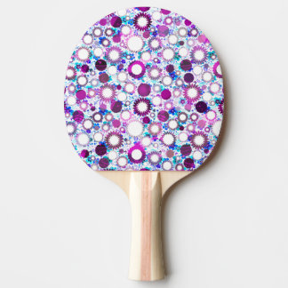 Cute colorful flowers suns patterns ping pong paddle