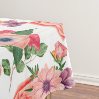 Cute Colorful Flowers Tablecloth