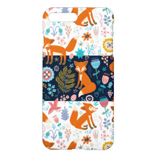 Cute Colorful Foxes & Flowers Pattern iPhone 7 Plus Case