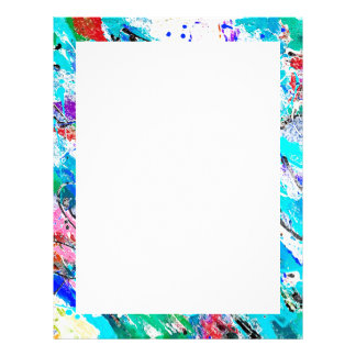 Cute colorful fresque painting letterhead