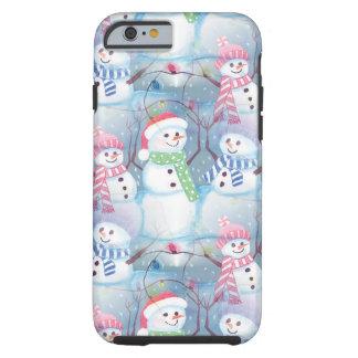 Cute Colorful Funny Winter Season Snowmen Pattern Tough iPhone 6 Case