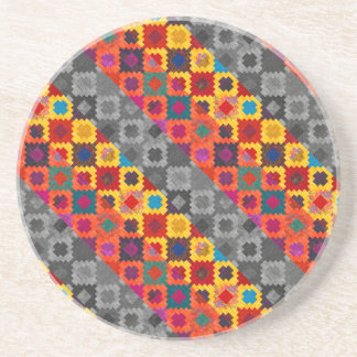 Cute colorful geometric patterns coaster