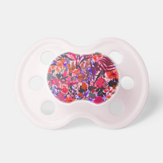 Cute colorful girley vintage flowers mixed pacifier