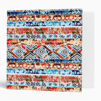 Cute colorful girly aztec patterns binder