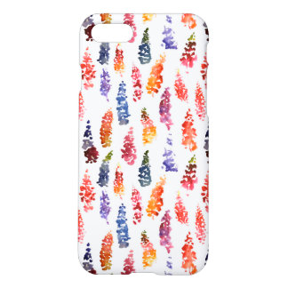 Cute colorful girly lupine flowers pattern iPhone 7 case