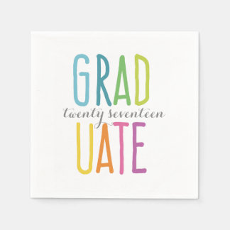 Cute Colorful Graduation Napkins Paper Napkins