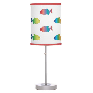 Cute Colorful Happy Fish Pattern Desk Lamp
