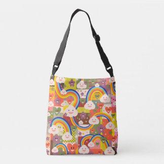 Cute colorful harajuku illustration pattern crossbody bag