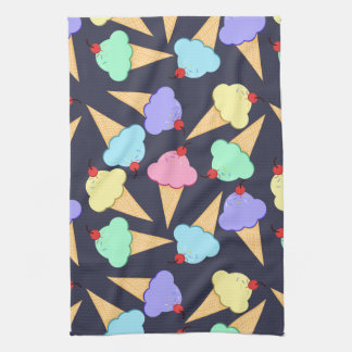 Cute Colorful Ice Cream Cones Hand Towels