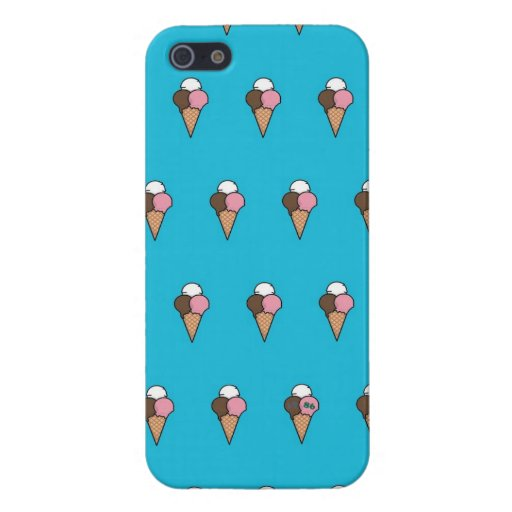 Cute Colorful Ice-Cream Pattern Covers For iPhone 5