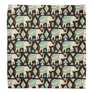 Cute colorful indian elephants pattern bandana