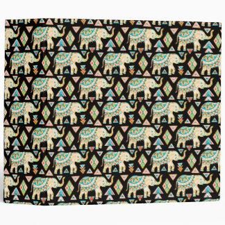 Cute colorful indian elephants pattern vinyl binders