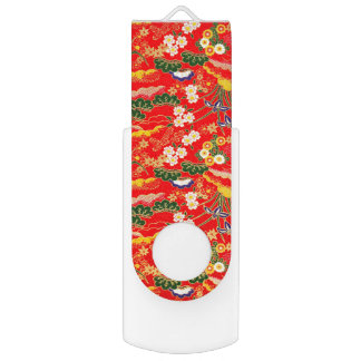 Cute colorful japanese floral patterns USB flash drive