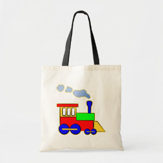 Cute Colorful Kids Train Engine Tote Bag