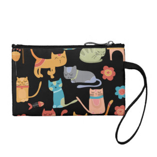 Cute Colorful Kitty Cats Gifts for Cat Lovers Coin Purse