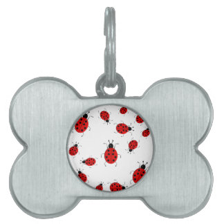 Cute colorful ladybugs clip art pet name tag