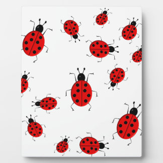Cute colorful ladybugs clip art plaque