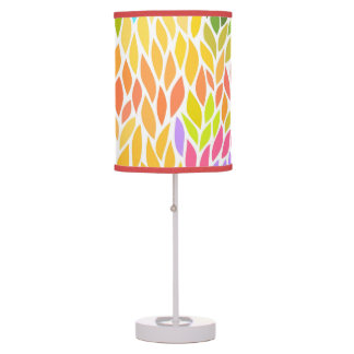 Cute colorful leaves pattern table lamp