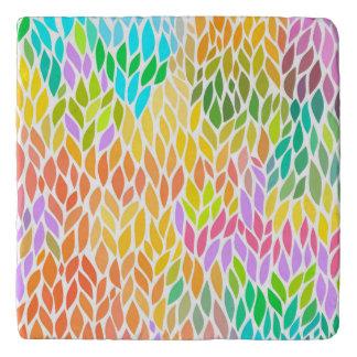 Cute colorful leaves pattern trivet
