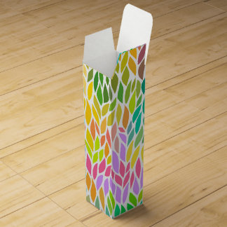 Cute colorful leaves pattern wine gift boxes