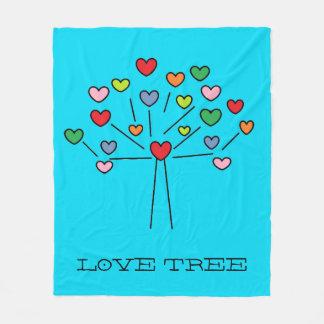 Cute Colorful LOVE Hearts TREE Design Blanket