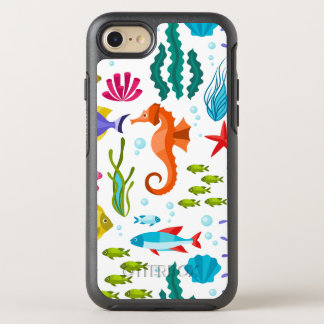 Cute Colorful Marine Life Cartoon Illustration OtterBox Symmetry iPhone 7 Case