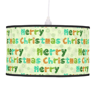 Cute Colorful Merry Christmas Text Pattern Ceiling Lamps