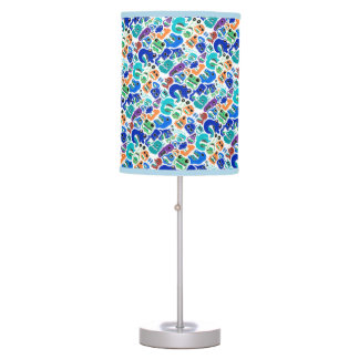 Cute colorful monsters patterns table lamp