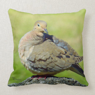 Cute colorful Mourning Dove Pillow