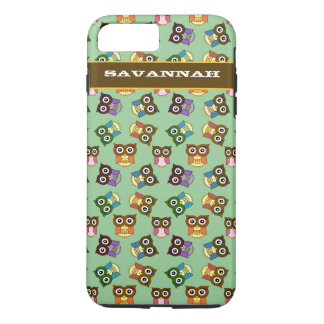Cute Colorful Owl Pattern Choose Case Color