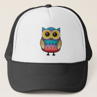 Cute Colorful Owl Trucker Hat