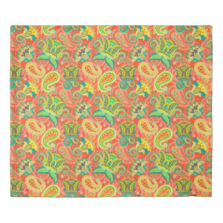 Cute colorful paisley patterns duvet cover