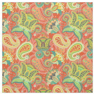 Cute colorful paisley patterns fabric