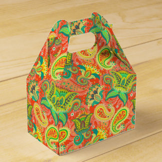 Cute colorful paisley patterns favor box