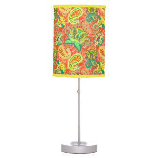 Cute colorful paisley patterns table lamp