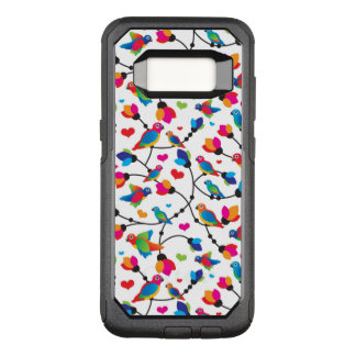 cute colorful parrot bird OtterBox commuter samsung galaxy s8 case