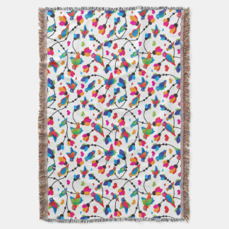 cute colorful parrot bird throw blanket