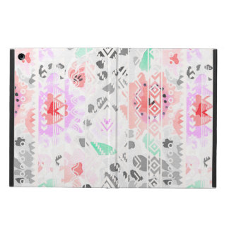 Cute colorful pastel floral aztec iPad air case