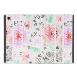 Cute colorful pastel floral aztec iPad mini cover