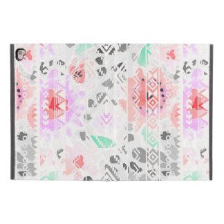 """Cute colorful pastel floral aztec iPad pro 9.7"""" case"""