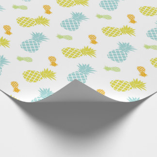 Cute Colorful Pineapples Pattern Wrapping Paper