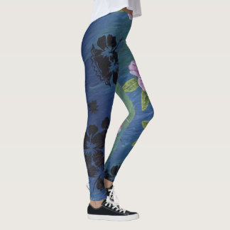 Cute & Colorful - Pink & Purple Flower Leggings