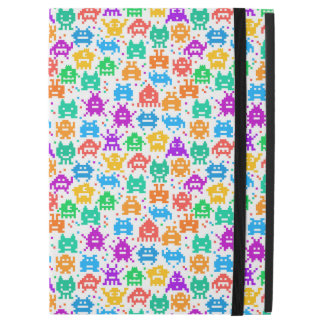 """Cute colorful pixelated monsters patterns iPad pro 12.9"""" case"""