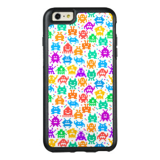 Cute colorful pixelated monsters patterns OtterBox iPhone 6/6s plus case