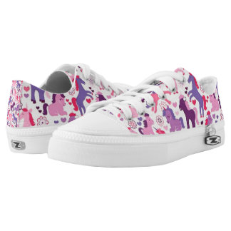 Cute Colorful Playing Unicorns Low-Top Sneakers